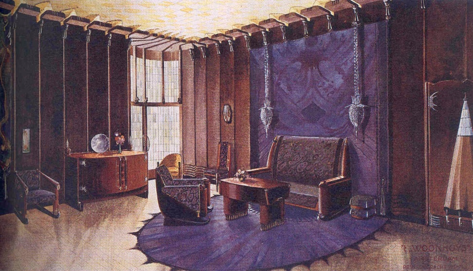 Wonen in de amsterdamse school kleurrijke interieurs 1910 for Interieur 1930
